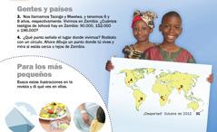 1. Niños de Zambia; 2. Para los más pequeños