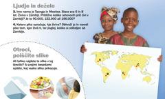 1. Otroka iz Zambije; 2. Otroci, poiščite slike