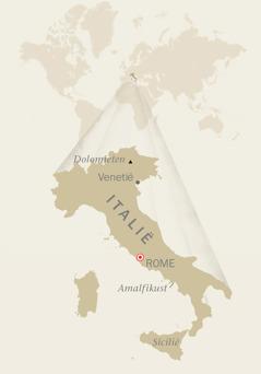 Een kaart van Italië
