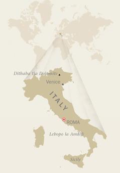 Mmapa wa Italy