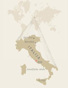 Zemljevid Italije
