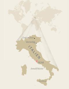 Eine Landkarte von Italien