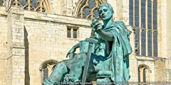 Bronzestatue von Konstantin dem Großen