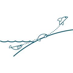 Gráfica del supuesto proceso de evolución