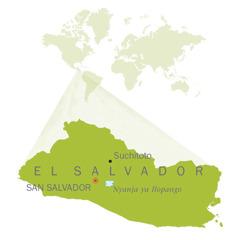 Mapu a dziko la El Salvador