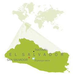 Et kort over El Salvador