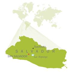 Carte du Salvador