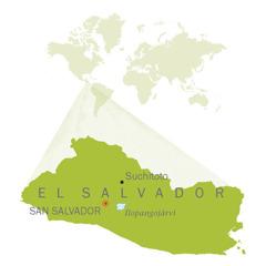 El Salvadorin kartta