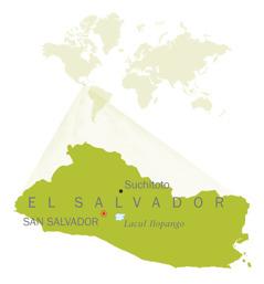 Hartă a El Salvadorului