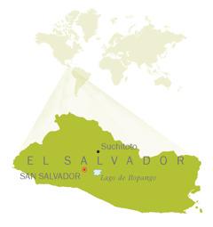 Kart over El Salvador
