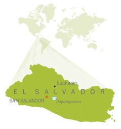 Een kaart van El Salvador