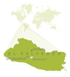 En karta över El Salvador.