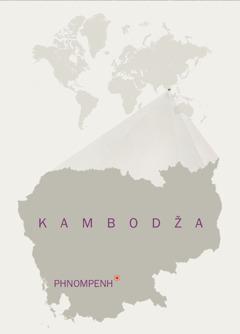 Mapa Kambodže