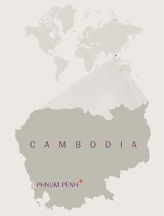 Mapa sa Cambodia