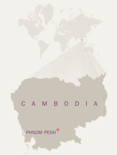 A map of Cambodia