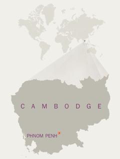 Une carte du Cambodge