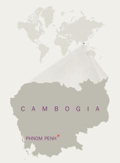Cartina della Cambogia