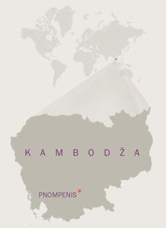 Kambodžos žemėlapis