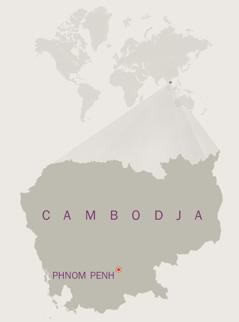 Een kaart van Cambodja
