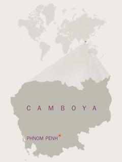 Mapa de Camboya