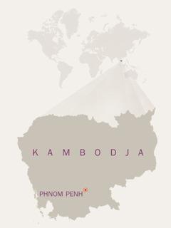 En karta över Kambodja.