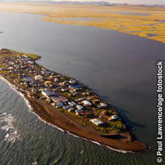 Aerial view of an Alaskan native village