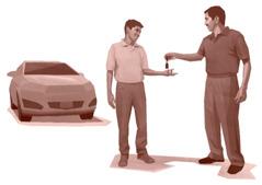 Otac daje sinu ključeve porodičnog auta