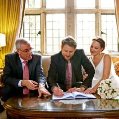 An atheist wedding service