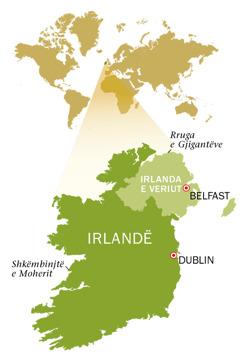 Hartë e Republikës së Irlandës dhe e Irlandës së Veriut