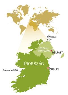 Írország és Észak-Írország térképe