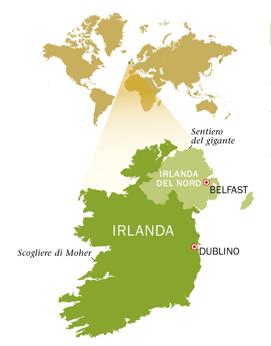 Irlanda Del Nord Cartina.Una Visita In Irlanda Genti E Paesi