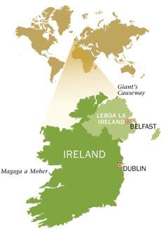Mmapa wa Repabliki ya Ireland le wa Leboa la Ireland