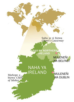 Mapa ya naha ya Republic of Ireland ni ya Northern Ireland