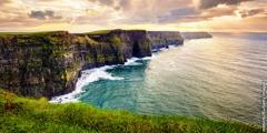Irländska kusten.