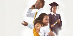 1. Rakgwebo; 2.Morutwana wa kholetšheng o swere diploma ya gagwe; 3.Mma o kukile morwedi wa gagwe