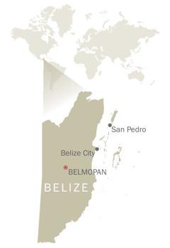Kort over Belize