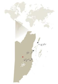 بیلیز کا نقشہ