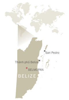 Bản đồ của Belize