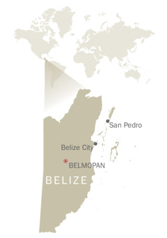 Karta över Belize
