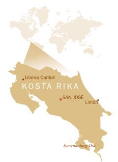 Peta dunia yang menunjukkan letak Kosta Rika