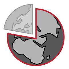 დედამიწის დიაგრამა, სადაც სამი მეოთხედი გამოკვეთილია