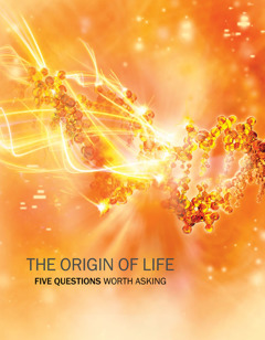 Cover of the brochure The Origin of Life—Five Questions Worth Asking