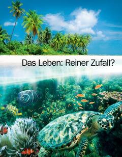 """Titelseite der Broschüre """"Das Leben: Reiner Zufall?"""""""