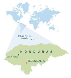 A map of Honduras