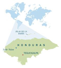 Mapa sang Honduras