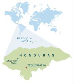 Een kaart van Honduras