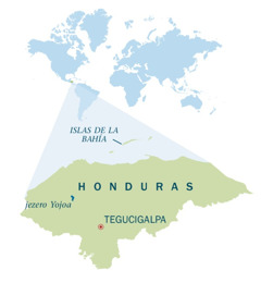 Zemljevid Hondurasa