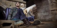 Семья бездомных