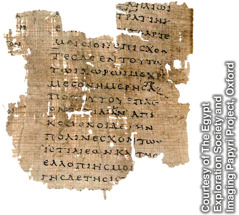 "A papyrus fragment of ""The Histories"""