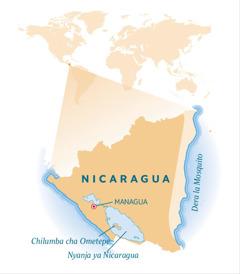 Mapu a dziko la Nicaragua